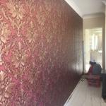 Bridgeman Downs wallpaper installation damask wallpaper