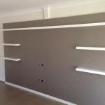 Gold Coast Wallpaper Install on tv cabinet