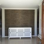 Gold Coast grasscloth wallpaper installation