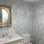 Hamilton, brisbane wallpaper installation in powwder room