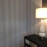 Hawthorne wallpaper installation in bedroom
