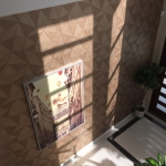 Hope Island wallpaper in front entry