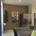 Hope Island wallpaper installation