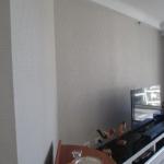 Kangaroo Point apartment wallpaper hanging