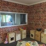 Kemra bricks wallpaper installation in a kindergarten - Brisbane