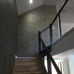 Staircase wallpaper installation - Shorncliffe