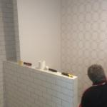 Wallpaper Install in bathroom - Hamilton Brisbane