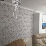 White Brick wallpaper installation - Brisbane