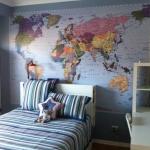 World map mural - Gold Coast Monterey Keys