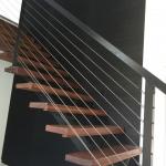 black grasscloth wallpaper in stairway - Gold Coast