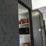 black wallpaper in kitchen Reedy Creek