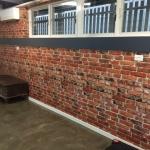brick wallpaper install - The Grange