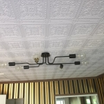 ceiling and wall installtion with stripes and anaglypta - Hope Island Gold Coast