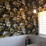 powder room wallpaper installation - Yeronga, Brisbane