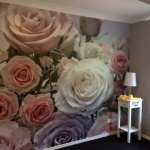 rose wall mural installation - Gold Coast