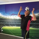 stadium wall mural Brisbane