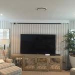 striped wallpaper installation Gold Coast