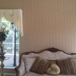 striped wallpaper installation Sanctuary Cove - Gold Coast