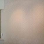 textured damask wallpaper installation Sanctuary Cove - Gold Coast