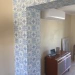 tile wallpaper on columns - Gold Coast