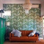 tropical palm leaf wallpaper installation Zillmere Brisbane