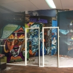 wall mural installation Mooloolaba Sunshine Coast Dance Studio