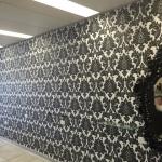 wallpaper hanging in hair salon Brisbane