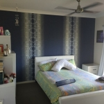 wallpaper installation Gold Coast to cover an outdated painted feature wall