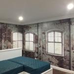 weatherd wall mural installation Mt Tamborine