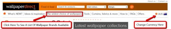 Screenshot Of WallpaperDirect brands