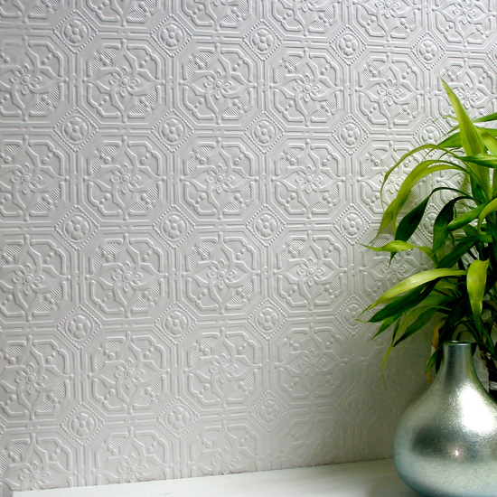 geometric paintable wallpaper