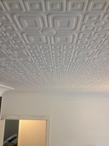 Anaglypta Wallpaper Finished On Ceiling