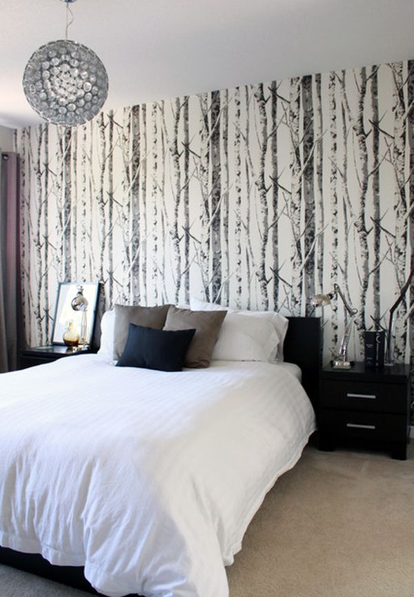 Bedroom wallpaper for Bed wallpaper design