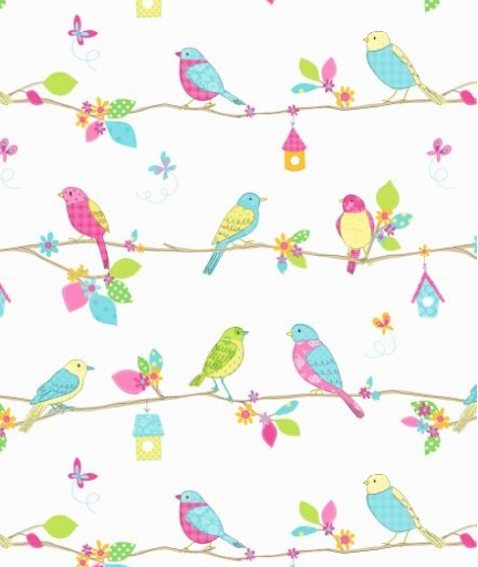Albany Wallpaper   Albany Kids   Garden Birds - Pip Behang Blauw