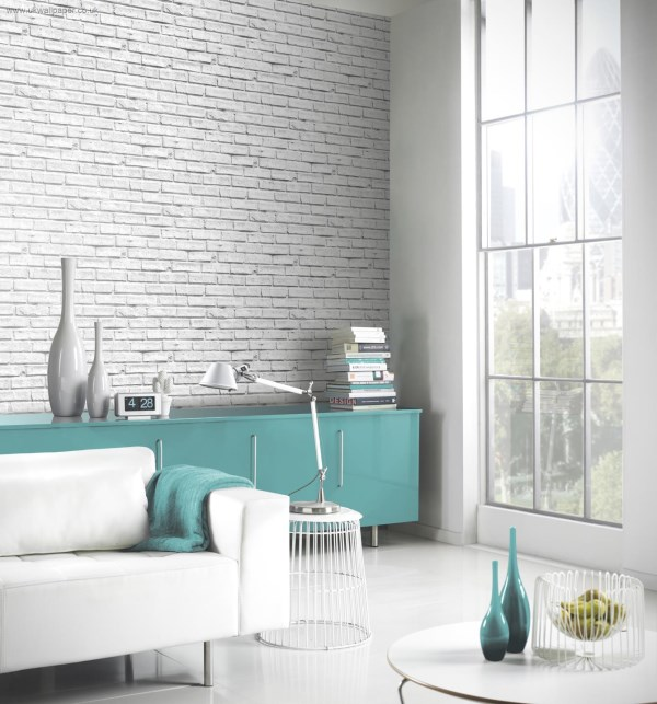 Arthouse Wallpaper - White Brick