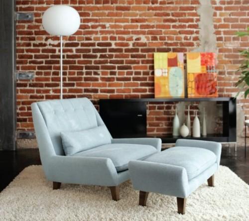 Brick Wallpaper In Loungeroom