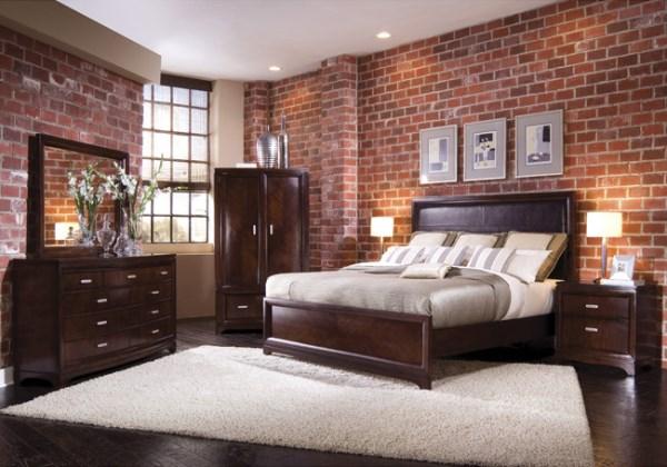 Brown Brick Bedroom Wallpaper