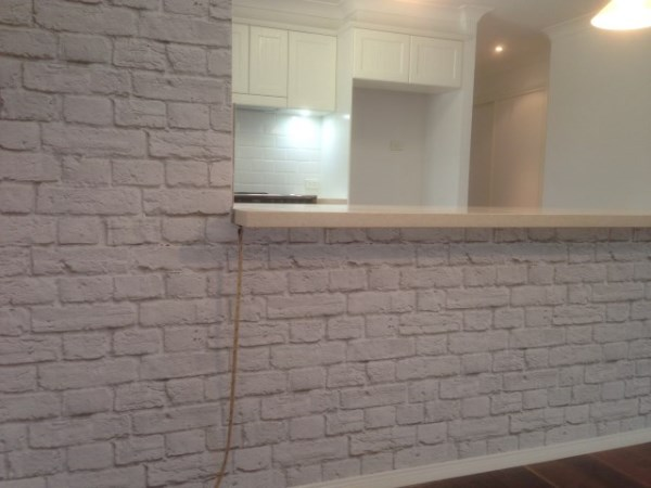 White Brick Wallpaper after