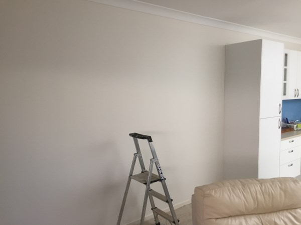 white brick wallpaper installation Brisbane - before