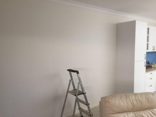 white brick wallpaper installation Brisbane - before