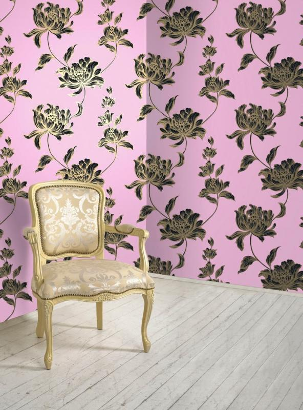 vibrant design modern floral wallpaper. Opus Muras Wallpaper  Bloomsbury Collection Vanessa Floral A Natural Choice