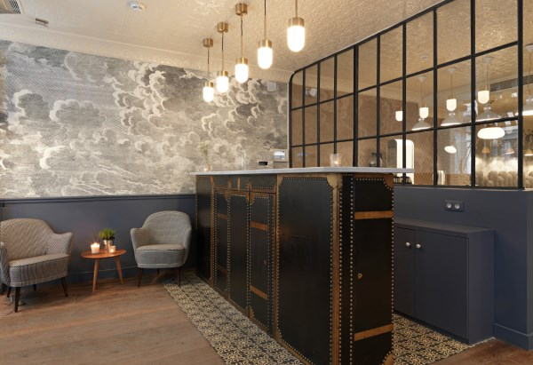 Hotel design using wallpaper for Design hotel parigi