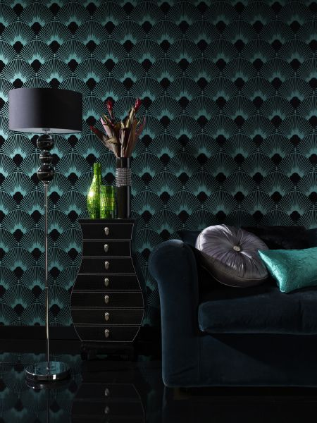 art deco wallpaper inspired by 1920 39 s glamour. Black Bedroom Furniture Sets. Home Design Ideas