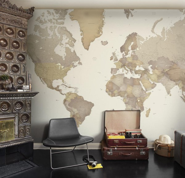 World map wallpaper mural mr perswall destinations colelction world map gumiabroncs Choice Image