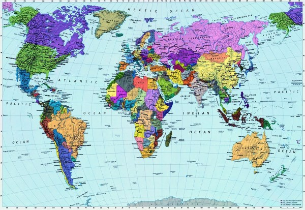 Murals Murals - World Map