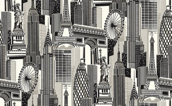 Cityscape Wallpaper Murals Give An Instant Urban Vibe