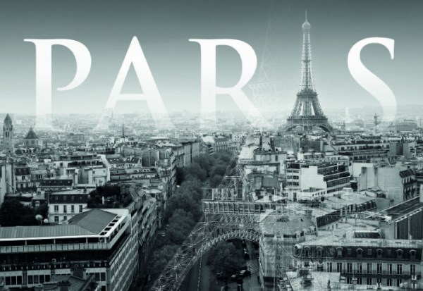 Cityscape wallpaper murals give an instant urban vibe for Black and white paris wall mural
