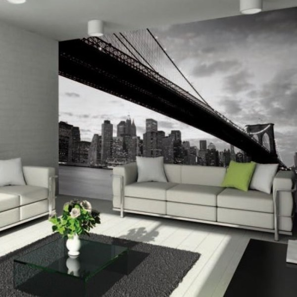 Cityscape wallpaper murals give an instant urban vibe for City wallpaper mural