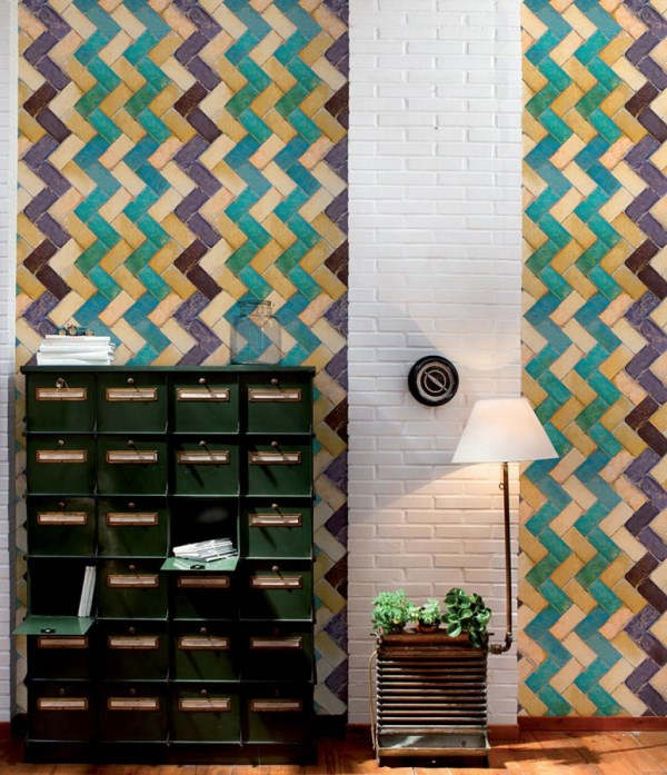 Paper Moon Wallpaper - Tiles Collection - Zig Zag