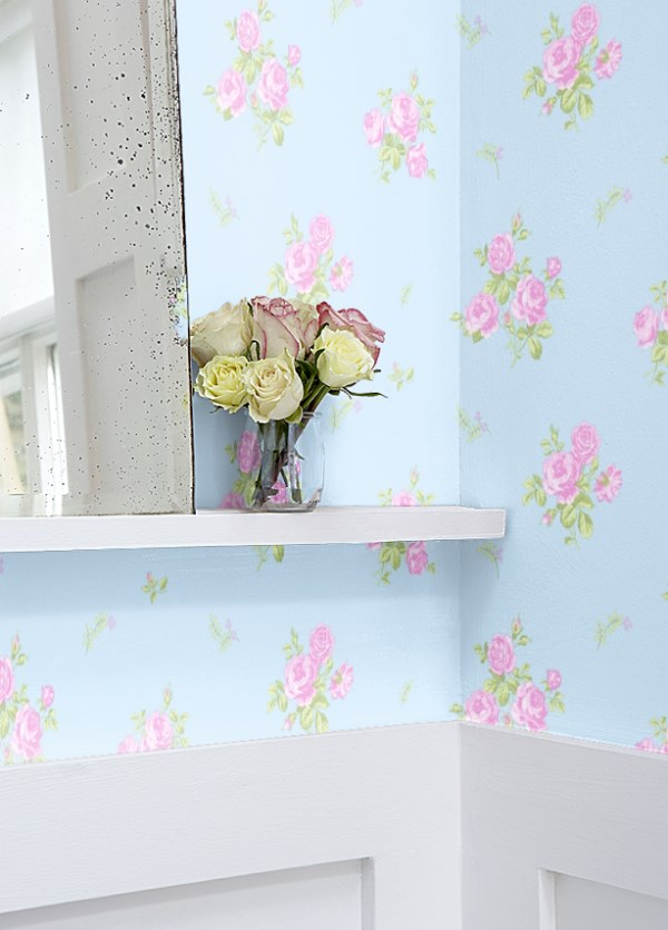 Shabby Chic Wallpaper Aged To Perfection